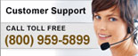 Customer Support: (800) 959-5899