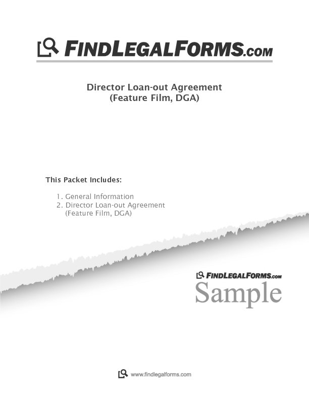 Director Loan Out Agreement Sample