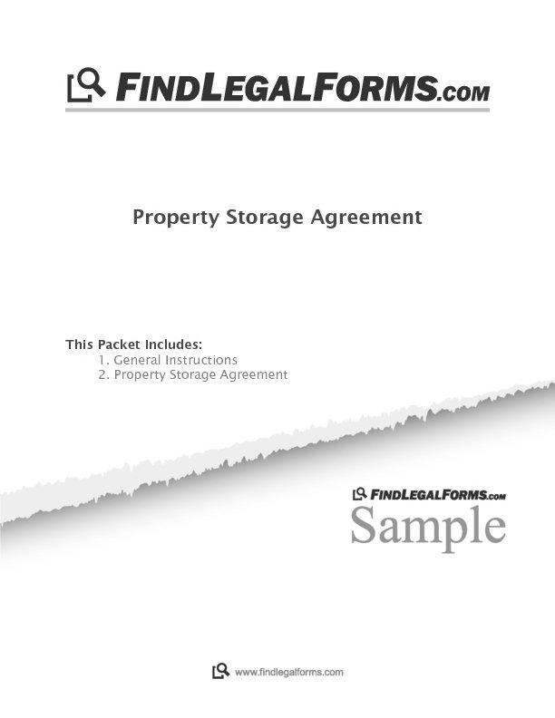 Property Storage Agreement Sample