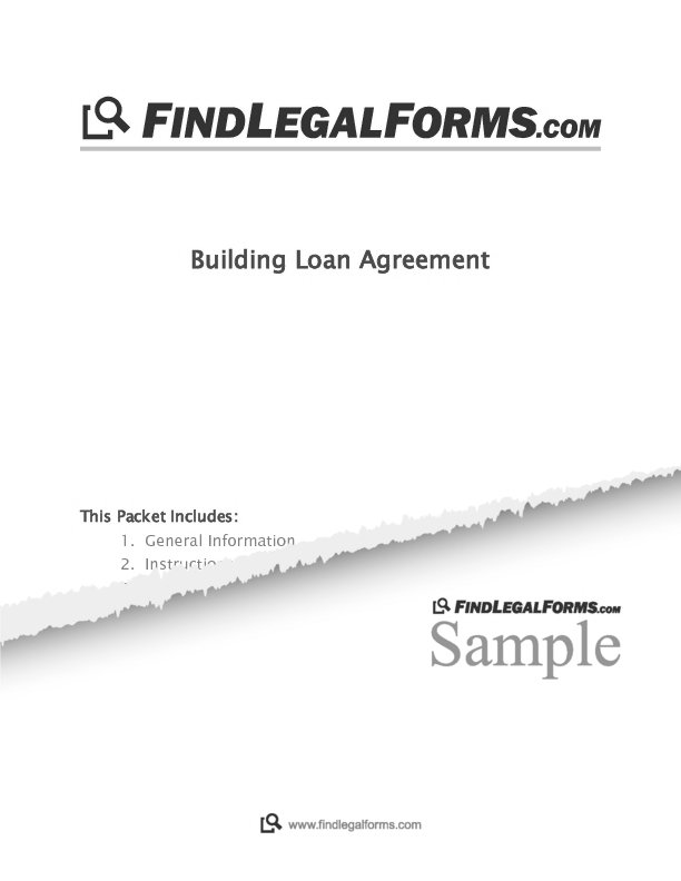 Building Loan Agreement Sample