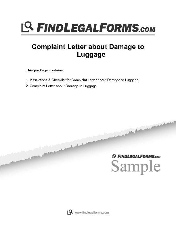 Ltr cons cmpl dmglug 0g complaint letter about damage to luggage sample spiritdancerdesigns Gallery