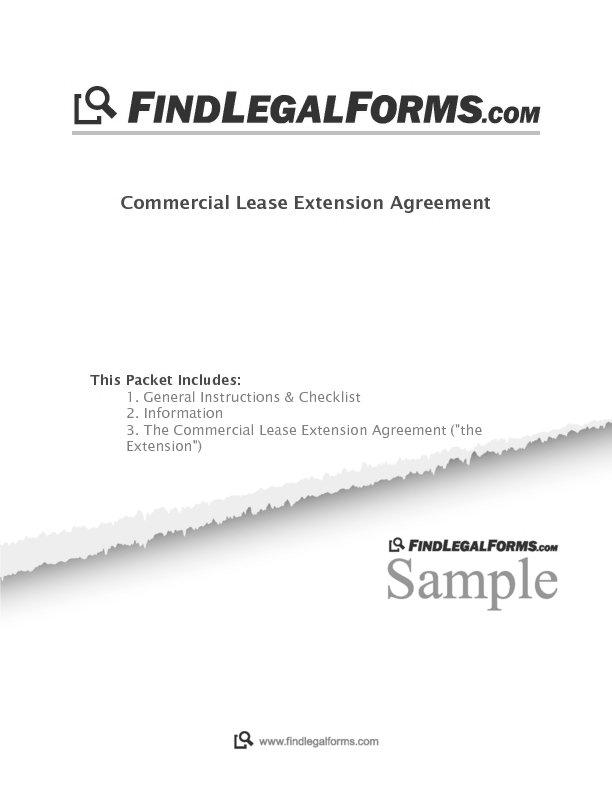 North Dakota Commercial Lease Extension Agreement Sample