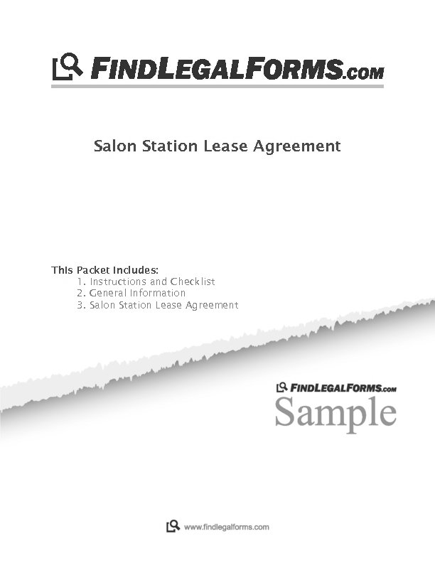 North Dakota Salon Station Lease Agreement Sample