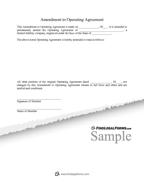 Texas Llc Operating Agreement Amendment Sample